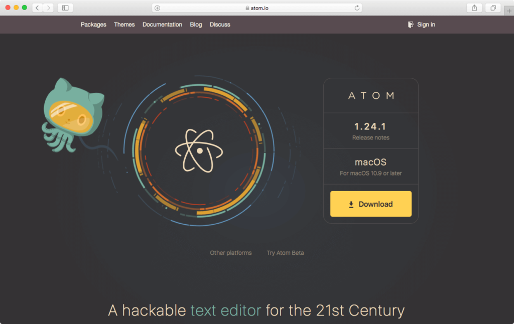 AtomインストールMac